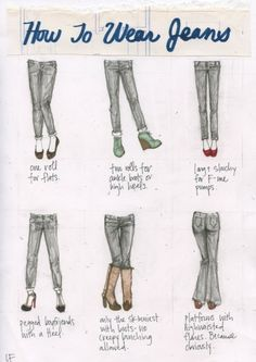"""This is just to help make me brave enough to """"maybe"""" try something new.  Right now I only own one kind of jeans, the flair ones & I don't own wedges.   {grin}"""