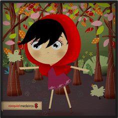 Chapeuzinho Vermelho by Ezequiel Medeiros, via Behance galleries, behance, simpl illustr, caperucita roja, festa chapeuzinho, chapeuzinho vermelho