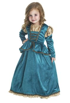 Girls Princess Merida Inspired Dress Up Costume - great for every day dress up play or a Merida themed birthday party! #princess #costume #dressup #party #Merida
