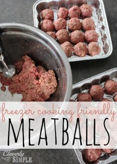 Here's an easy meatball recipe that's perfect for freezer cooking!  #recipe #freezercooking | Cleverly Simple