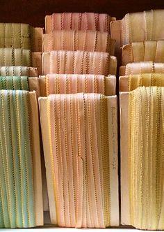 pastel, vintag ribbon, ribbonwork, vintage colors, button, pasta, color ribbon, french ribbon