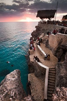 Rick's Cafe:  Negril, Jamaica where you can watch the sunset.