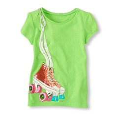 heathered neon graphic tee / the children's place