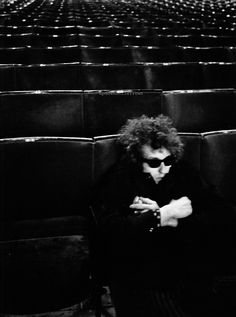 Bob Dylan at a sound check, Royal Albert Hall, London, 1966 by Barry Feinstein