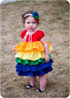 The REAL Housewives of Riverton: A rainbow ruffle dress!