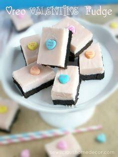Oreo Valentine's Day Fudge