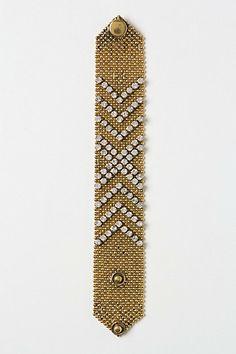 Chevron Sparkle Bracelet #anthropologie $48