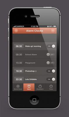 iPhone Alarm Clocks App