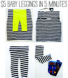 Turn your old body-con skirt into a pair of baby leggings. | 12 Depressing (But Useful) DIY Baby Projects