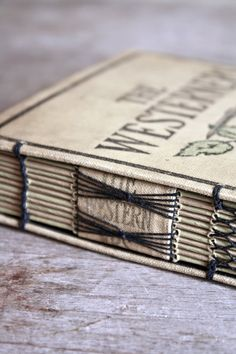 The Westerners Handstitched Journal from Vintage Book by odelae