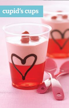 Cupid's Cups — When fruity JELL-O Gelatin meets COOL WHIP in these deliciously uncomplicated treats, it's love at first bite.