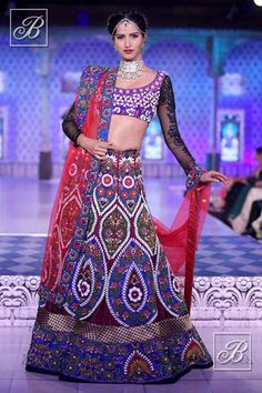Niki Mahajan heavily embroidered lehenga choli