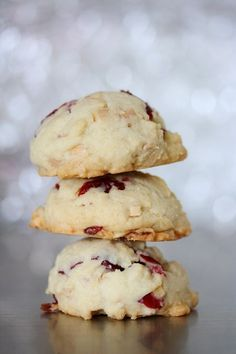 Cranberry Almond Cookies | Holiday-Christmas Desserts | best stuff