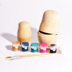 Paint Your Own Babushka Craft Set for Kids.