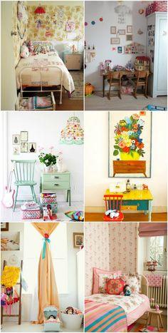 Girs room - bright & cheery, vintage, farm, cozy
