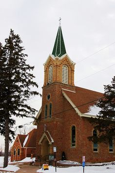 Church of St. Mary Of The Purification in Marystown (Shakopee) Minnesota, a Catholic church that was founded in 1855 by Benedictine priest Father George Keller and about 30 families. The present building was built in 1882.