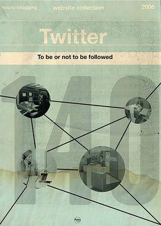 Retro Twitter Poster n. 2