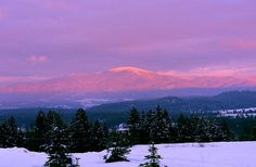 Mt. Spokane at Sunset