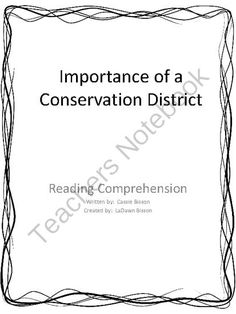 The Importance of a Conservation District from Math From My Angle on TeachersNotebook.com -  (6 pages)  - A short nonfiction essay about the importance of a conservation district.  Concepts include:  comprehension, independent reading, watershed, water conservation, and awareness.