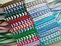 hair barrettes, little girls, ribbon barrett, color combos, rememb, ribbons, childhood memori, kid, school colors