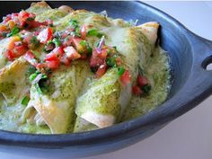 Verde Chicken Enchiladas