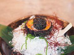 Waku Ghin botan ebi and sea urchin with oscietra caviar
