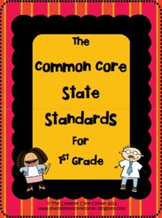 Here are the 1st Grade Common Core State Standards that are easy to read and a quick reference guide!  In our layout, we designed the Core Standard...