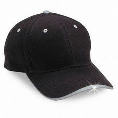 Baseball Cap with Brass Buckle and Print, Made of 100% Cotton