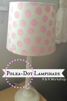 Polka Dot Lampshade Tutorial!