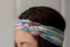 diy headband, diy tshirt headband, craft, diy headwrap, summer headband