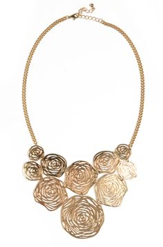 Louche Rose Statement Necklace by Joy The Store