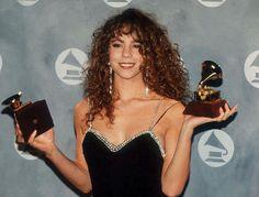 Mariah Carey at the 1991 Grammy Awards