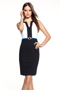 Exclusive Spring Preview - Emerge Ponti Block 'V' Dress - EziBuy Australia