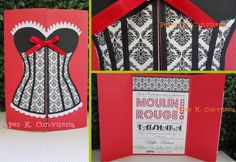 Convite 15 anos - Moulin Rouge 15 ano