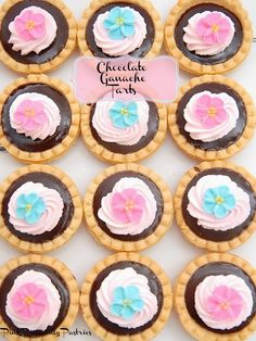Pink Piccadilly Pastries: 5 Minute Chocolate Ganache Tarts