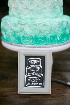 Why just have one flavor for your wedding cake!? Love this idea!  Forever Amour Bridal (212) 486- 2900 www.ForeverAmourBridal.com New York, New York 10022