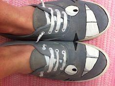 Totoro shoes DIY
