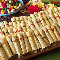 Great Idea to Place Utensils in for a Mexican Themed Party