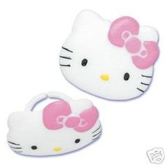 HELLO KITTY CUPCAKE OR CAKE RINGS SET... (bestseller)