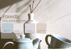 Friendly Grays are subtle, familiar shades that comfort. #color #inspiration