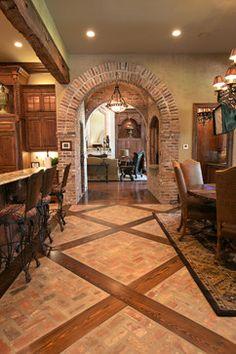 Bar/Wine Room - mediterranean - kitchen - other metro - Terry M. Elston, Builder