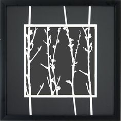 "White Branches A Wall Art - 16x16"" $39.99"