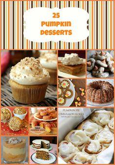 25 Pumpkin Dessert Recipes