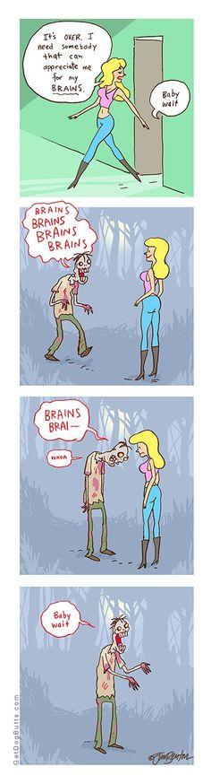 Appreciate me for my brains