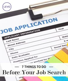 7 Thing To Do Before A Job Search | Levo | Job Search