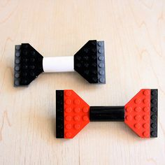 Lego Bow Tie Brooch: Measures 95 x 48 mm. $34 #Lego #Pin