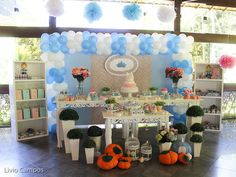 Talk about a gorgeous Cinderella dessert table! See more party ideas at CatchMyParty.com #princess #cinderella #partyideas #desserttable