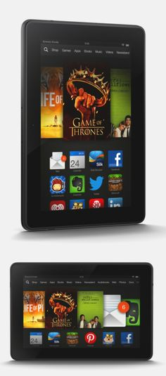 Cyber Monday only: Kindle Fire 7-inch tablets $50 off. Until midnight Amazon lowers the price of the Kindle Fire HD to $119 and the Kindle Fire HDX (top) will start at $179. The new Kindle Fire HD has a faster dual-core processor and newer software than the 2012 version, but lacks the camera the original had. The Kindle Fire HDX has a sharper display than the Kindle Fire HD, a faster quad-core processor and a front-facing camera. CLICK THE PIC for more information #CyberMonday
