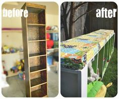 bookcases, benches, old furniture, antique furniture, yard furniture, mud rooms, kid rooms, window seats, thrift store crafts