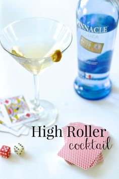 High Roller Cocktail Recipe – Pinnacle Vodka   Ingredients:  2 parts Vodka Splash of olive juice Spritz of vermouth Directions:  Shake then serve Garnish with an olive
